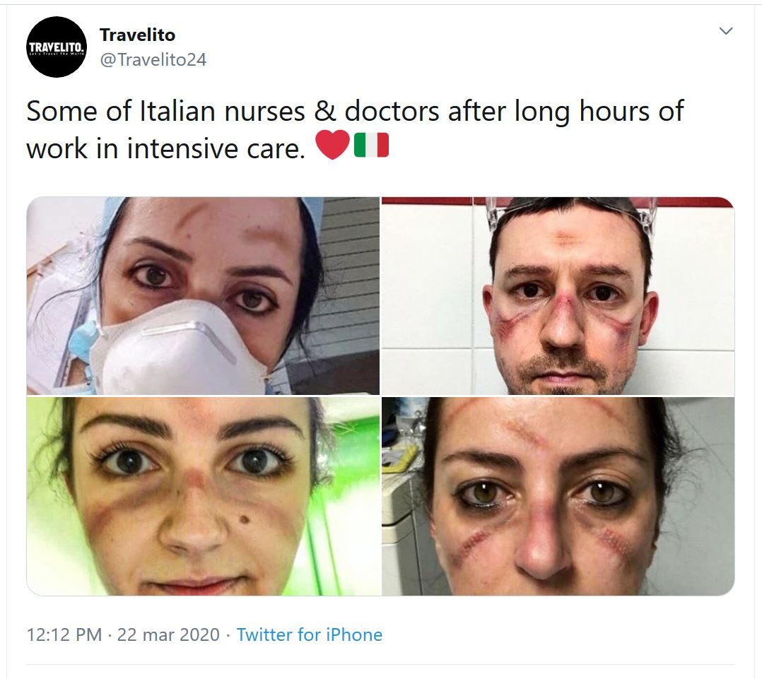 italian nurses and doctors work intensive coronavirus covid